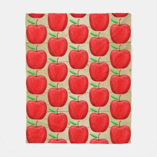 Apple rojo pintado esquila la manta