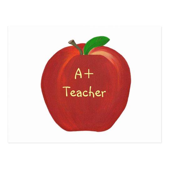 Apple rojo que pinta, A+ Postales del profesor