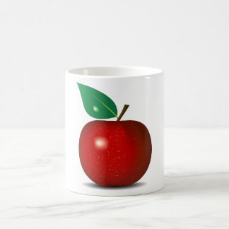 Apple rojo quebradizo asalta taza de café