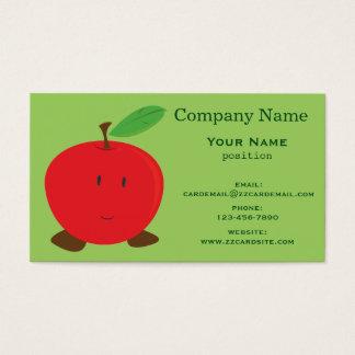 Apple rojo sonriente tarjeta de visita