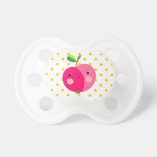 Apple rosado 0-6 meses de pacificador de chupete