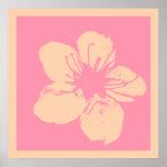Apple rosado y poner crema florece impresiones