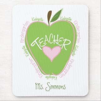 Apple rosado y verde del maestro de jardín de alfombrilla de ratón