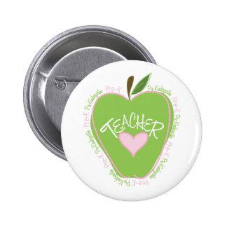 Apple rosado y verde pre de K del profesor Pins