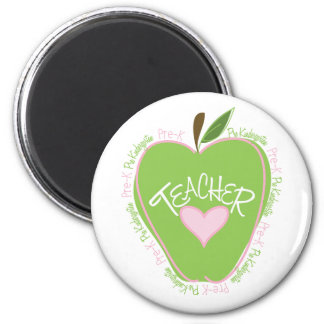 Apple rosado y verde pre de K del profesor Imán Redondo 5 Cm