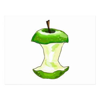 Apple verde postal