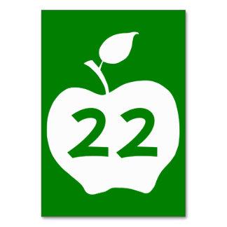 Apple verde y blanco numerado