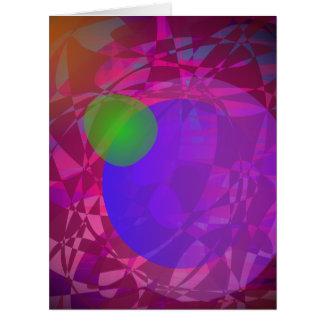 Apple verde y energía oscura tarjeta de felicitación grande