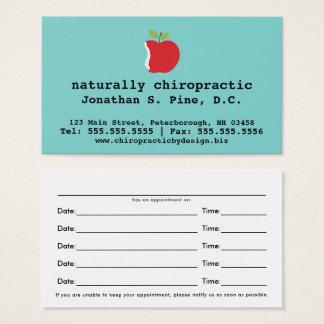 Apple y tarjetas de la cita de la quiropráctica