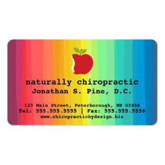 Apple y tarjetas de visita de la quiropráctica del