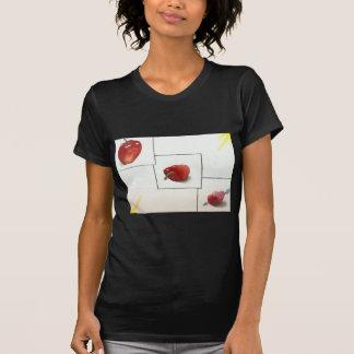 Apple y transformación de los corazones camisetas