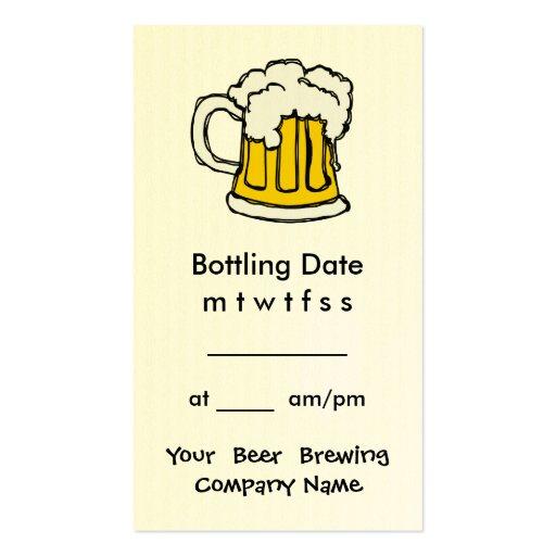 Appointment embotelladoa Brewing Company, barra, U Tarjetas De Visita