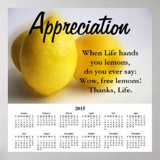 Aprecio 2015 del calendario de Demotivational Póster