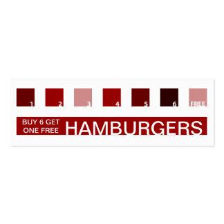 Aprecio del cliente de las HAMBURGUESAS (cuadrados Tarjeta De Visita
