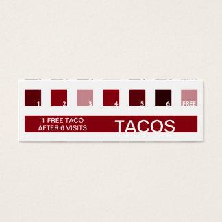 Aprecio del cliente del TACOS (cuadrados de la Tarjeta De Visita Mini