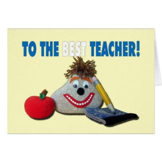 ¡Aprecio del profesor - usted ROCA! Tarjeta