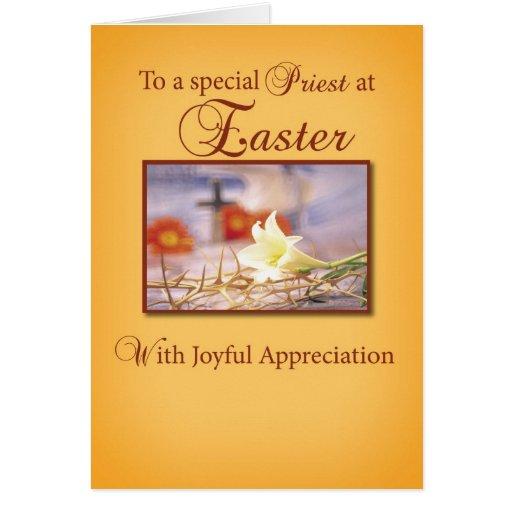 Aprecio del sacerdote de Pascua Tarjeta