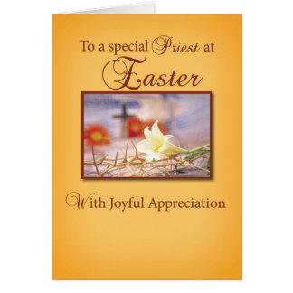 Aprecio del sacerdote de Pascua Tarjeta De Felicitación