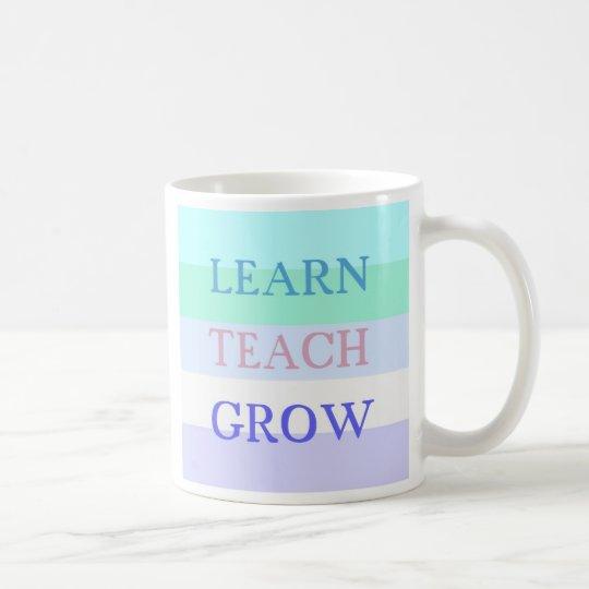 Aprenda enseñan crecen la taza