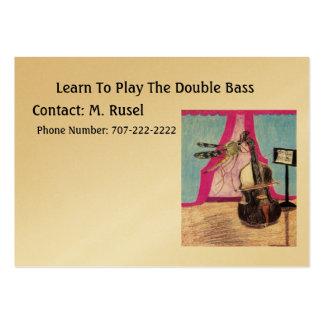 Aprenda jugar el bajo doble tarjetas de visita grandes