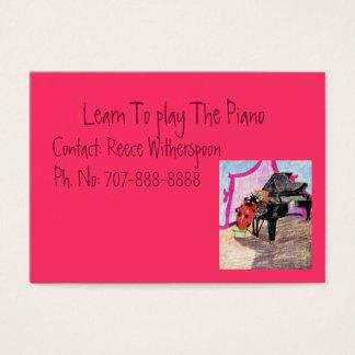 Aprenda jugar el piano tarjeta de visita