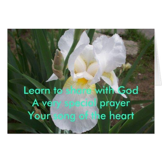 Aprenda - la parte con dios tarjeta de felicitación