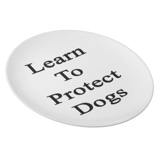Aprenda proteger perros plato