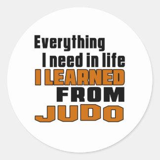 Aprendí de judo pegatina redonda