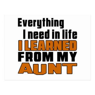 Aprendí de tía postal