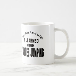 Aprendí del salto del amortiguador auxiliar taza básica blanca