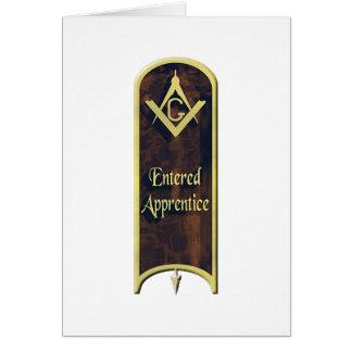 Aprendiz inscrito tarjeta de felicitación