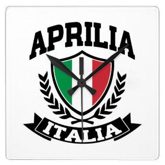 Aprilia Italia Reloj Cuadrado