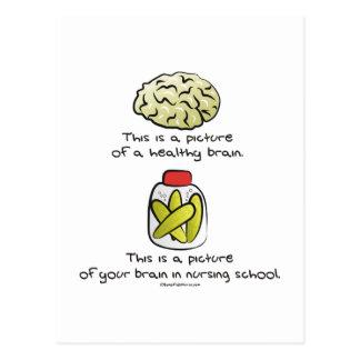Aquí está su cerebro en escuela de enfermería tarjeta postal