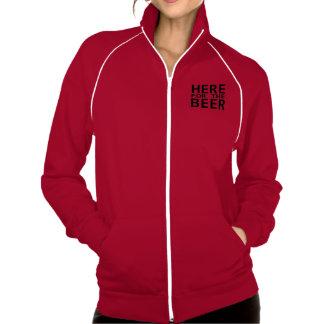 Aquí para la cerveza las señoras humor sudadera co