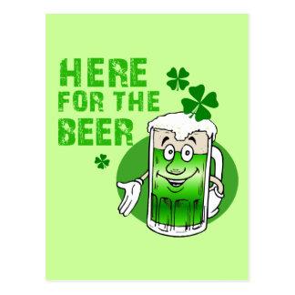 Aquí para la cerveza postal