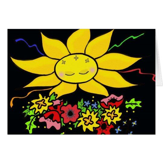 Aquí viene el arte popular ucraniano de Sun Tarjeta Pequeña
