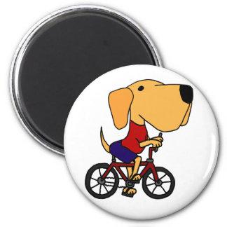 AR dibujo animado amarillo de la bicicleta del mon Imán Redondo 5 Cm