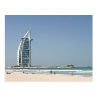 Árabe del Al de Burj de la playa de la puesta del Tarjeta Postal
