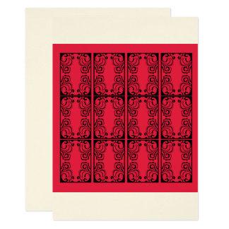 Arabesque/árabe del vintage de los ornamentos de invitación 12,7 x 17,8 cm