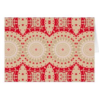 Arabesque poner crema rojo NT del oro del navidad Tarjeta De Felicitación