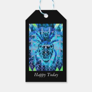 Arácnido azul etiquetas para regalos
