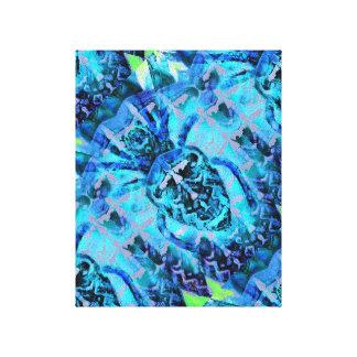 Arácnido azul lienzo
