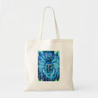 Arácnidos azules bolso de tela