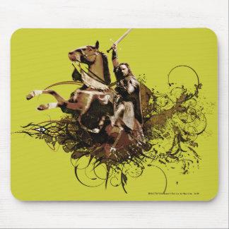 Aragorn que monta un collage del vector del alfombrilla de ratón