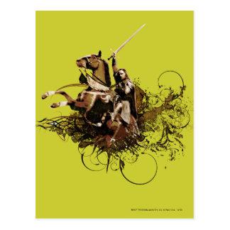 Aragorn que monta un collage del vector del postal