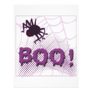 Araña asustadiza folleto 21,6 x 28 cm