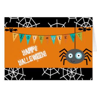 Araña de Halloween del truco o de la invitación Tarjeta De Felicitación