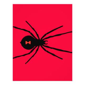 Araña de la viuda negra tarjetón