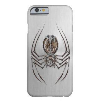 Araña de Steampunk con efecto del acero inoxidable Funda De iPhone 6 Barely There