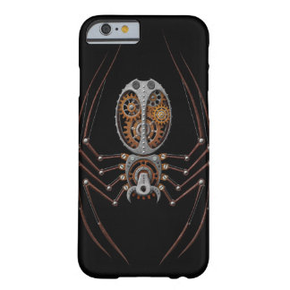 Araña de Steampunk, fondo negro Funda De iPhone 6 Barely There